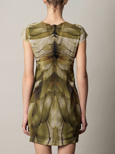Alexander McQueen dragonfly wing dress3