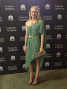 Dress by designer Abi Ferrin