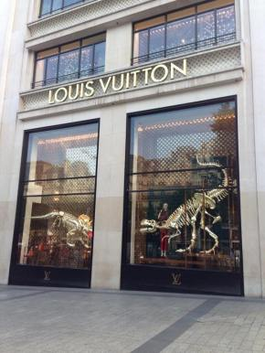 Dinosaurs at Louis Vuitton