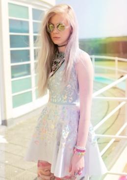 hologram dress