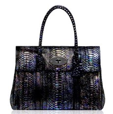 Mulberry Bayswater Antracite Cosmic Python